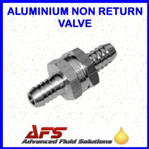 8mm (5/16) Straight Non Return Valve Aluminium - Fuel Check Valve Air Water Pipe Tube Hose